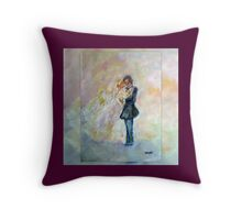 Wedding Dance Art Designed Decor & Gifts - Burgundy Throw Pillow