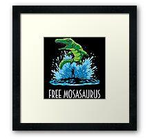 Jurassic World Free Mosasaurus Framed Print