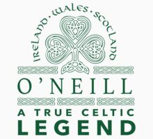 Celtic-Inspired 'O'Neill, A True Celtic Legend' Last Name TShirt, Accessories and Gifts by Albany Retro