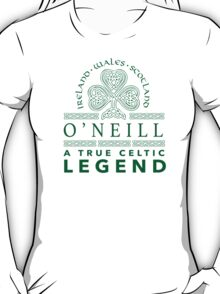 Celtic-Inspired 'O'Neill, A True Celtic Legend' Last Name TShirt, Accessories and Gifts T-Shirt