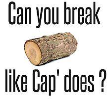 Wood log vs. Cap' - Avengers : Age Of Ultron by LouJaxn58