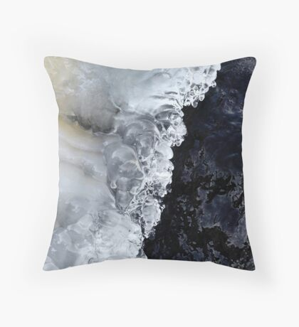8.2.2017: Natural Ice and Wet Stone Throw Pillow
