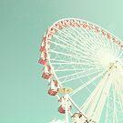 Coral candy ferris wheel II by Caroline Mint