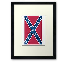 Confederate, Rebel, Dixie Flag, C.S.A, America, American, Americana, Pure & Simple, Portrait, upright Framed Print