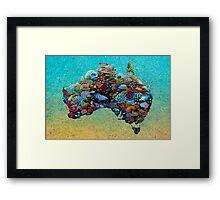 Australia Reef Framed Print
