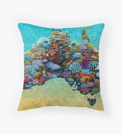 Australia Reef Throw Pillow