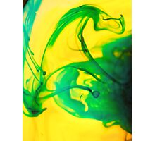 Green liquid heat Photographic Print