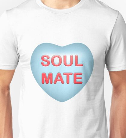 "Candy Gem Heart ""Soul Mate"" (Blue) Unisex T-Shirt"