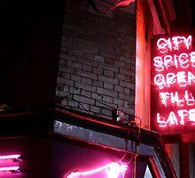 Brick Lane, open till late by Rachael Mullins
