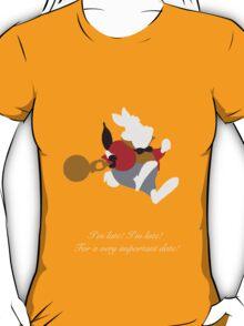 Alice in Wonderland inspired design (White Rabbit). T-Shirt
