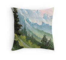 green mountain valley Throw Pillow