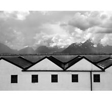 Geometric Architecture in Black and White Photographic Print