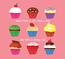 Where There Is Cake (PINK) by Shaun Baker