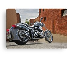 Custom Harley Davidson 'Alley Cat' Canvas Print
