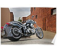 Custom Harley Davidson 'Alley Cat' Poster