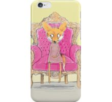 MISS FOX IN PINK CHAIR iPhone Case/Skin