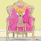 MISS FOX IN PINK CHAIR by Jane Newland