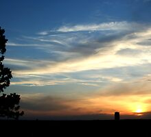 Sunset over Bismarck by Nate Welk