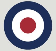 Bulls eye, Red, White, Blue, Roundel, Target, by TOM HILL - Designer