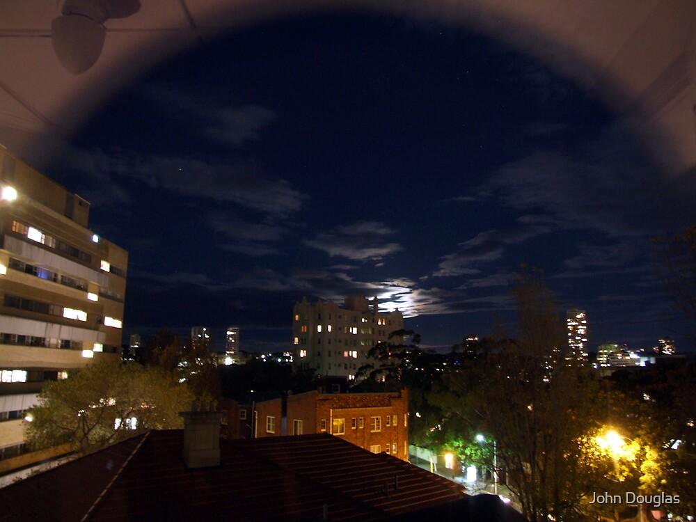 Moonrise, Elizabeth Bay, Sydney by John Douglas