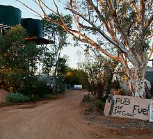 Front Gate, Mt Dare Station,Outback South Australia. by Joe Mortelliti