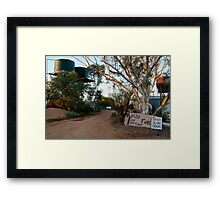 Front Gate, Mt Dare Station,Outback South Australia. Framed Print