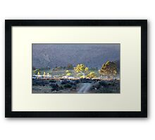 Dawn light over Nieu Bethesda Framed Print