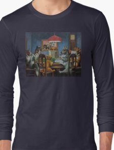 Dogs Playing D&D Long Sleeve T-Shirt