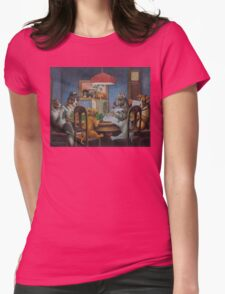 Dogs Playing D&D Womens Fitted T-Shirt