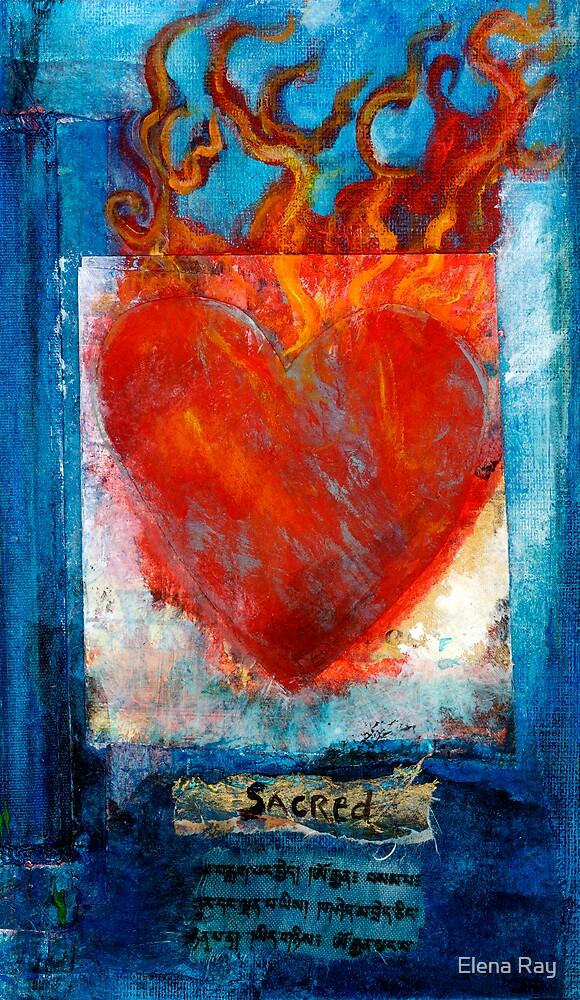 Sacred Sanskrit Heart by Elena Ray