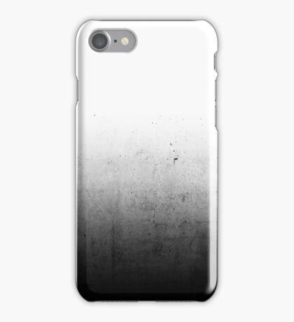 Black Ombre on Concrete Texture iPhone Case/Skin