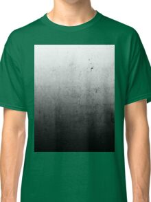 Black Ombre on Concrete Texture Classic T-Shirt