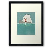 winters journey Framed Print