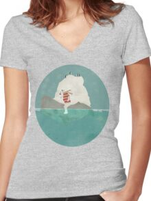 winters journey Women's Fitted V-Neck T-Shirt
