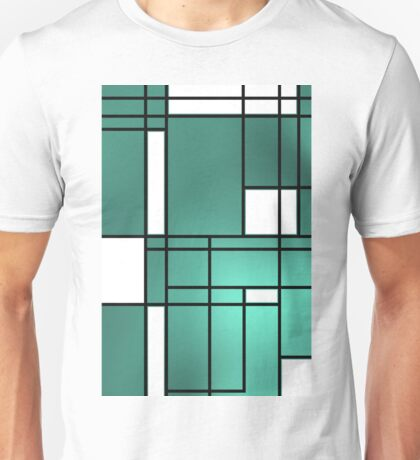 Mondrian blue cool fashion, Unisex T-Shirt