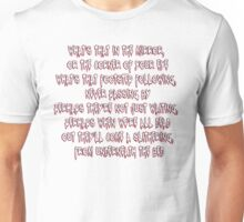 what's that in the mirror.. Unisex T-Shirt