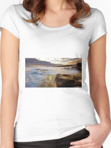 Margaret River seascape Women's Fitted Scoop T-Shirt