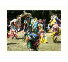 colourful native dancer Art Print