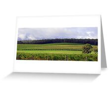 Pemberton Vineyard Panorama  Greeting Card