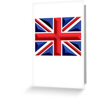 British, Union Jack, Chisel Hard, UK, United Kingdom, Flag, Blighty Greeting Card