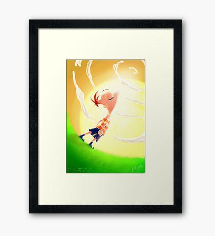 Phineas Flynn Framed Print