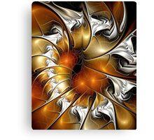 Amber Vortex Canvas Print