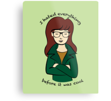 Daria, the Original Hipster Metal Print