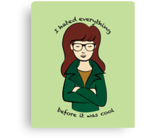 Daria, the Original Hipster Canvas Print