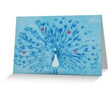 Peacock Blue. Greeting Card