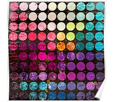 Colorful abstract diameter circles Poster