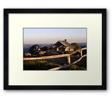 Craigs Hut at sunrise Framed Print