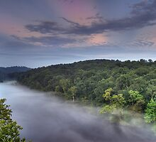 Misty River by James Hoffman