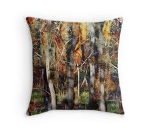 Dry Gum Forest Throw Pillow