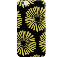 Yellow daisies on black background pattern iPhone Case/Skin